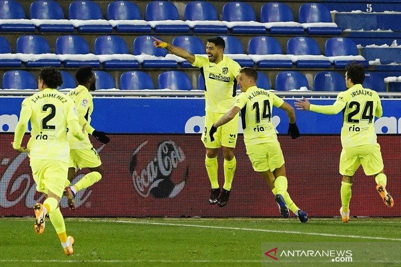 Hasil pertandingan dan klasemen Liga Spanyol, Atletico di puncak