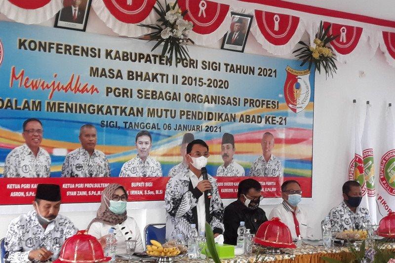 Bupati Sigi:  PGRI kekuatan membangun SDM generasi muda