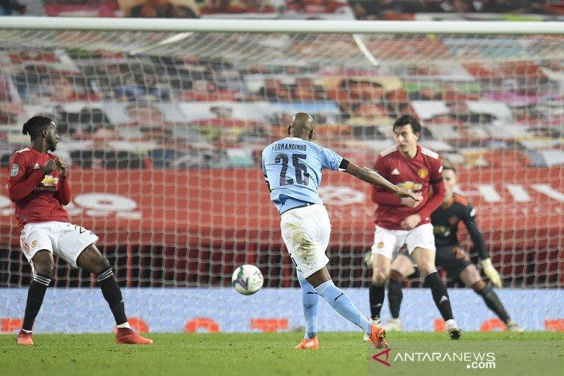 Manchester City tantang Tottenham di final Piala Liga setelah lewati MU