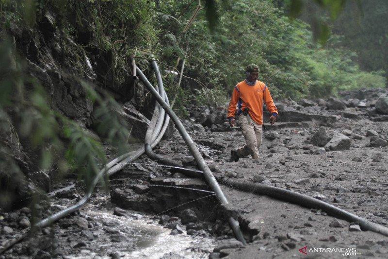 Pipa air Purwobinangun terdampak banjir lahar Merapi selesai diperbaiki