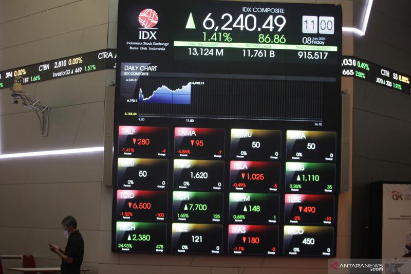 IHSG BEI ditutup menguat dipimpin saham sektor perindustrian