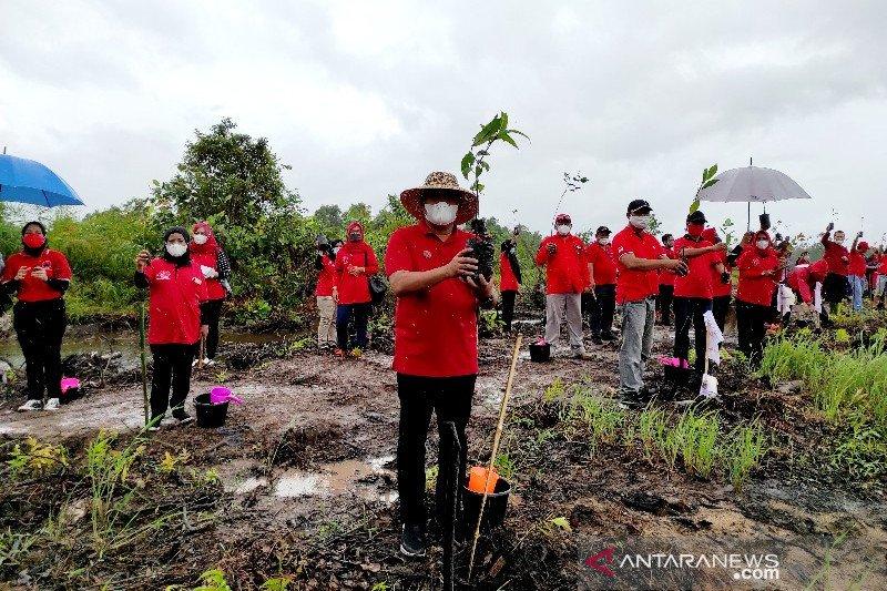 PDIP Kobar tanam ribuan pohon di kawasan Sungai Bedara