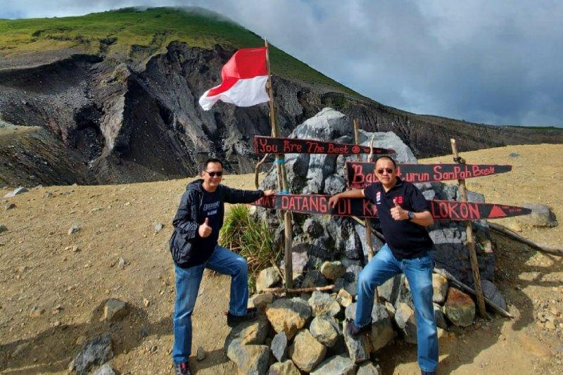 Senduk-Lumentut survei akses destinasi pariwisata Gunung Lokon