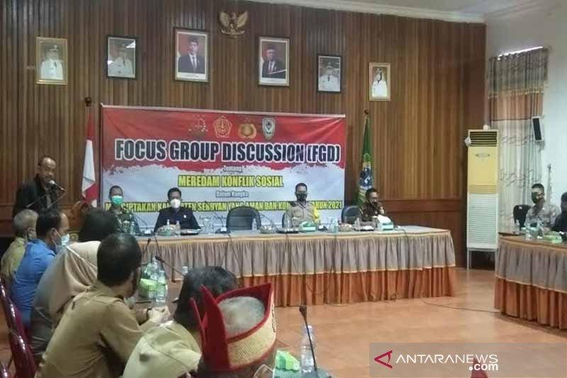 Cegah terjadi konflik sosial di Seruyan, Forkopimda gelar FGD