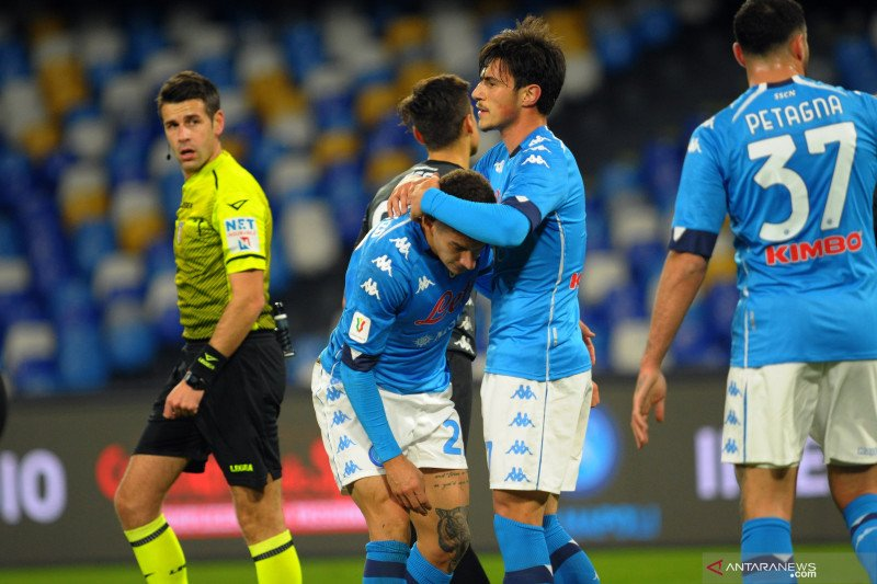 Liga Italia-Napoli dipaksa kerja keras saat menang 3-2 atas Empoli