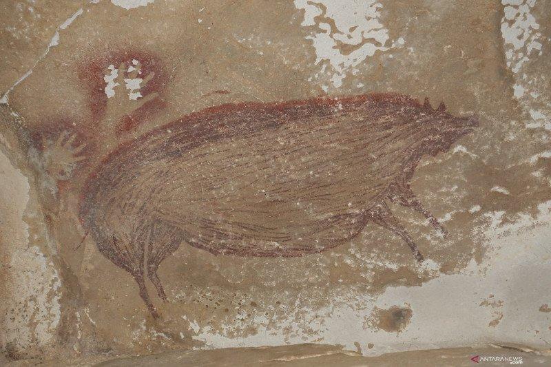 Lukisan gua tertua di dunia berusia 45.500 tahun ditemukan di Indonesia