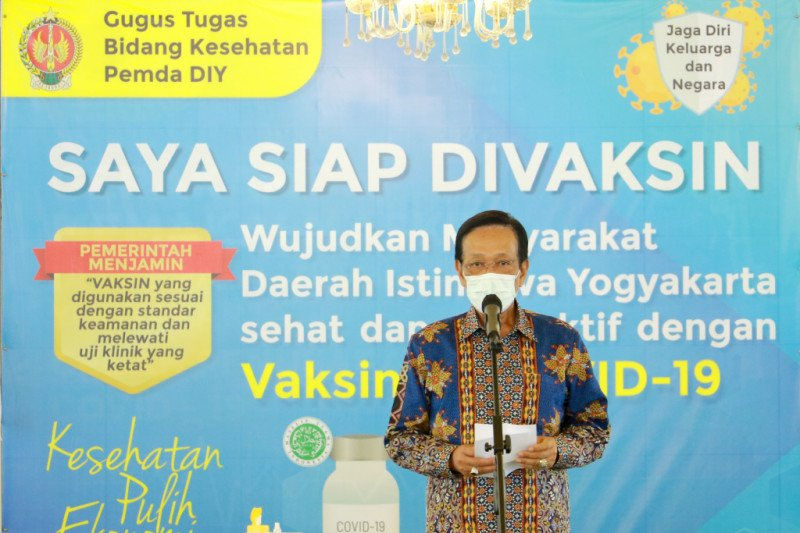 Gubernur DIY mengajak warga ikut vaksinasi COVID-19 tanpa disertai sanksi
