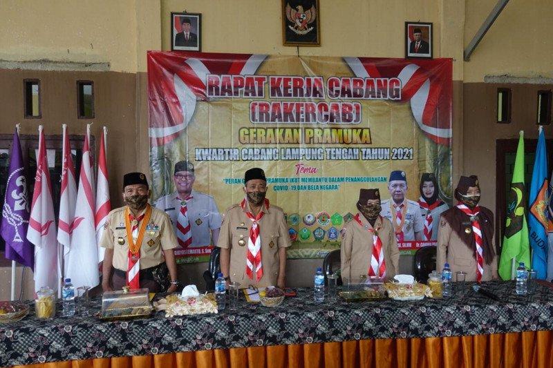 Bupati Lampung Tengah buka rakercab Gerakan Pramuka 2021