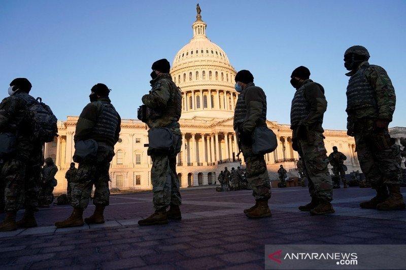 Garda Nasional Amerika Serikat berjaga 24 jam di Capitol setelah pengepungan