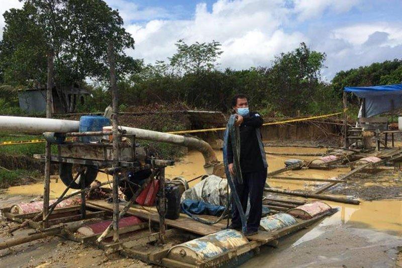 Polisi amankan tiga penambang ilegal di Gumas