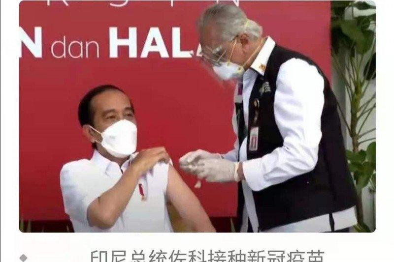 Jokowi dongkrak pamor Sinovac dalam memproduksi vaksin COVID-19