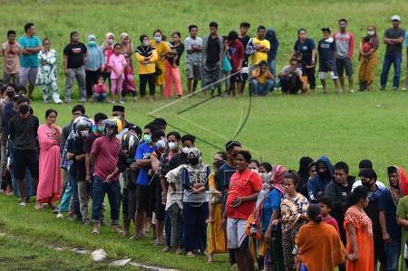 Bantuan logistik untuk pengungsi korban gempa Sulbar