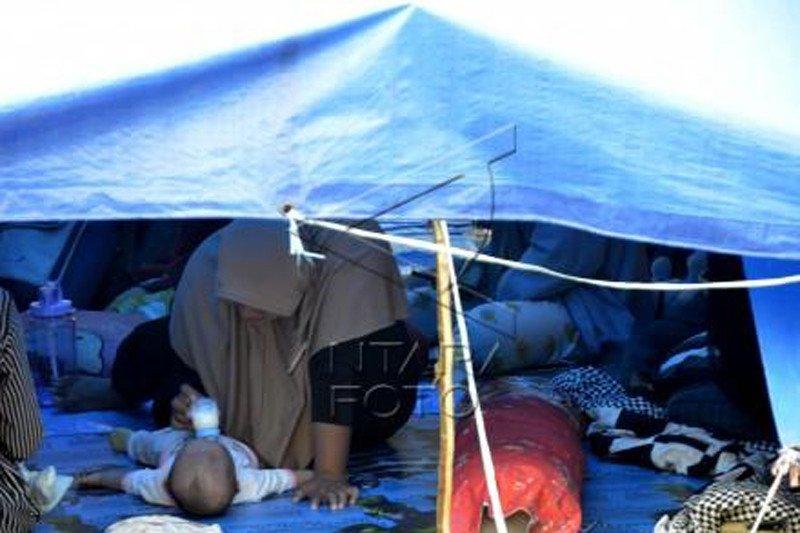 Pengungsi korban gempa bumi di Mamuju