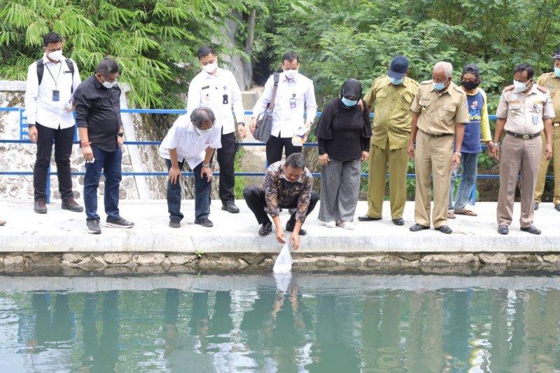 Menteri Kelautan dan Perikanan tebar benih ikan di Embung Gadingan Sleman