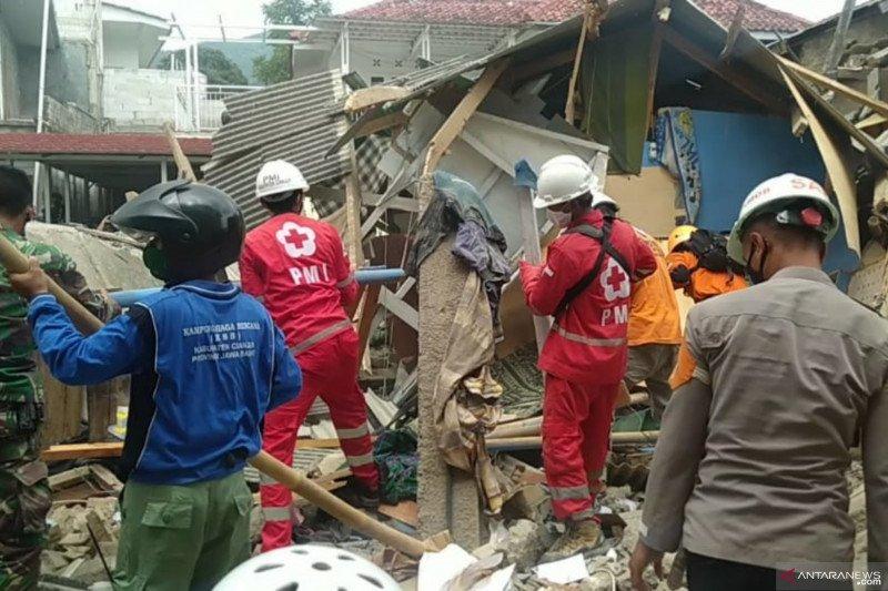 BPBD Cianjur selesaikan penanganan gedung ponpes yang roboh