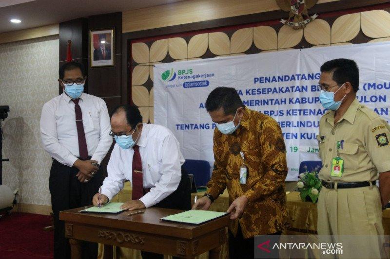 Pemkab Kulon Progo-BPJS Ketenagakerjaan Yogyakarta MoU jaminan sosial