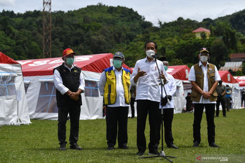 Presiden Jokowi saksikan pemberian santunan korban pesawar Sriwijaya Air