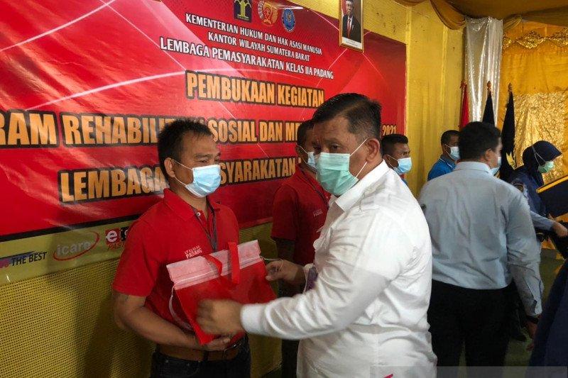 Lapas Padang gulirkan program rehabilitasi medis-sosial untuk 100 warga binaan
