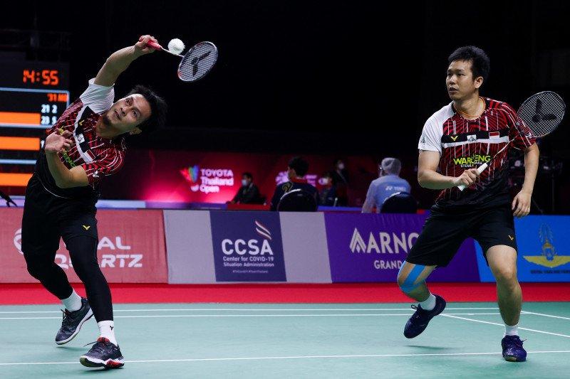 Hendra/Ahsan melangkah ke semifinal Thailand Open