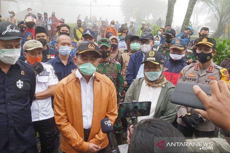 Muhadjir Effendy dan Erick Thohir bahas penanganan bencana di Puncak Bogor