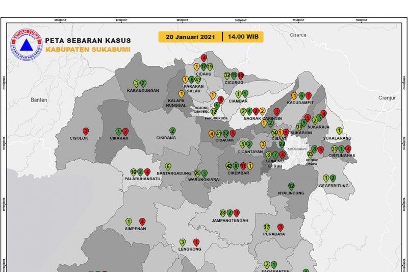 Warga Kabupaten Sukabumi yang positif COVID-19 terus bertambah