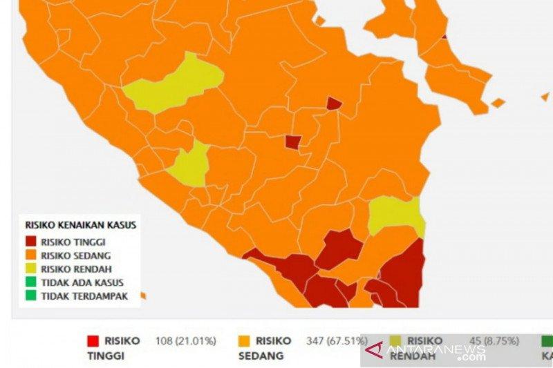 Palembang dan Prabumulih zona  merah COVID-19