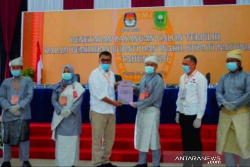 KPU Natuna tetapkan  bupati dan wakil bupati terpilih