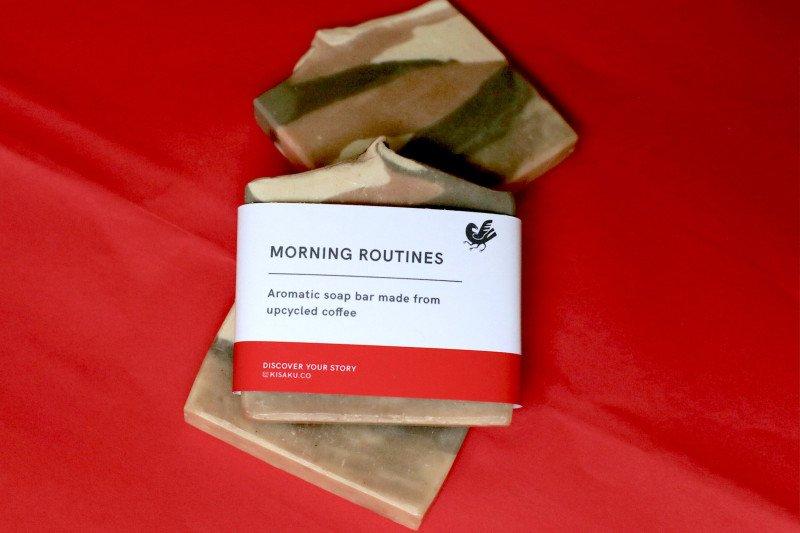 KISAKU hadirkan sabun batangan dari bahan ampas kopi