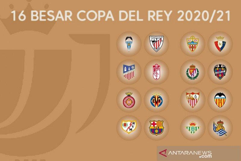 Undian 16 besar Copa del Rey, Barcelona dapat keuntungan