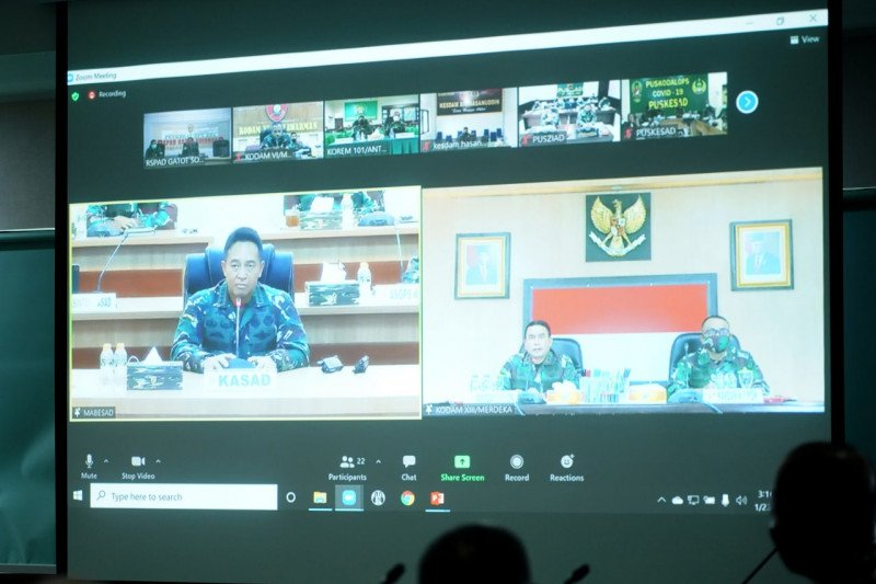 KASAD mengapresiasi laporan penanggulangan bencana Pangdam XIII/Merdeka