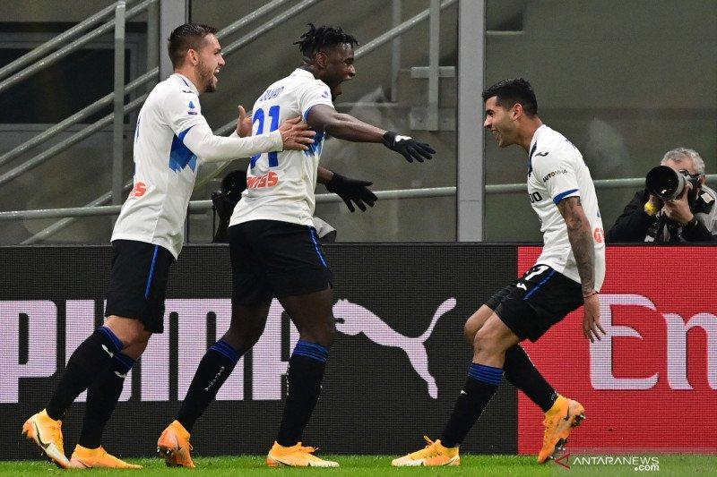 Atalanta telan pemuncak klasemen AC Milan tiga gol tanpa balas