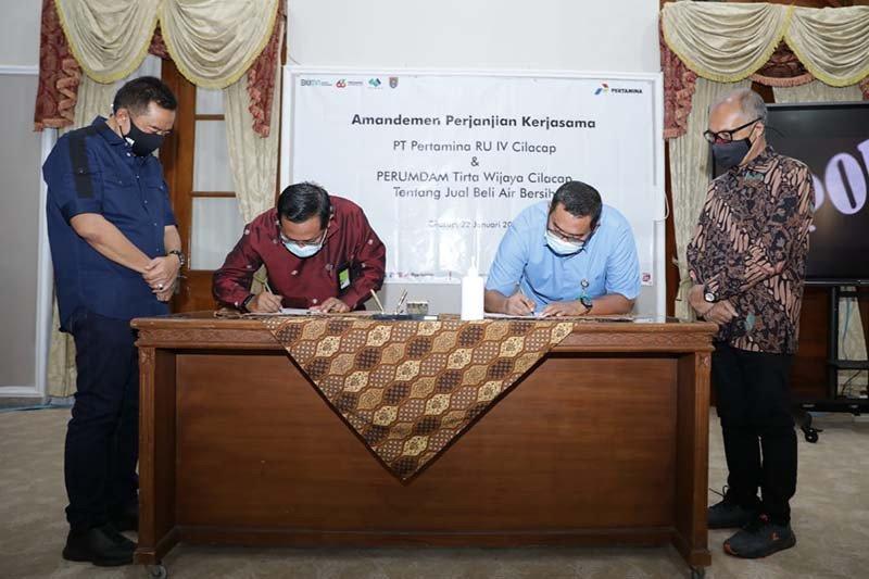 Pertamina Cilacap-Perumdam Tirta Wijaya sepakat perbarui kerja sama
