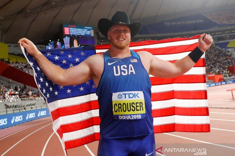 Ryan Crouser cetak rekor baru dunia tolak peluru setelah bertahan 32 tahun
