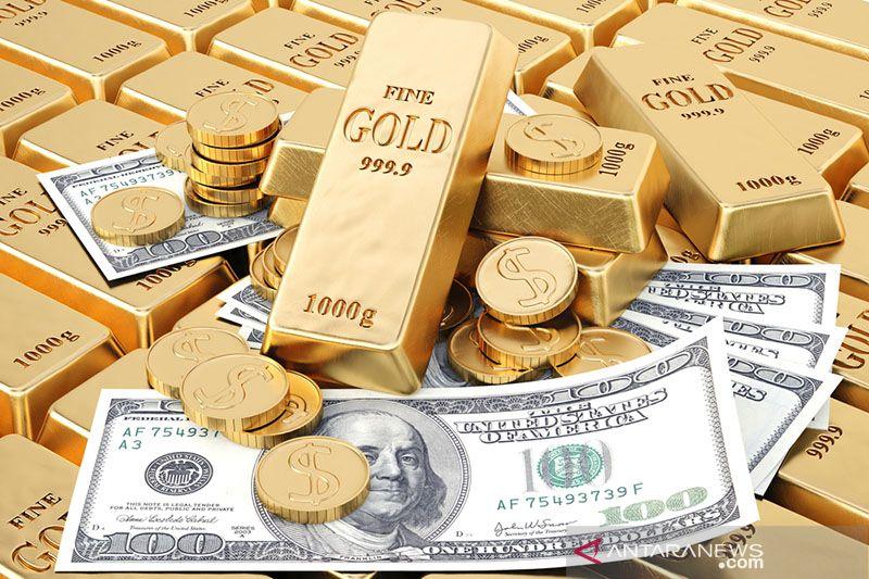 Harga emas terjun 86,6 dolar karena