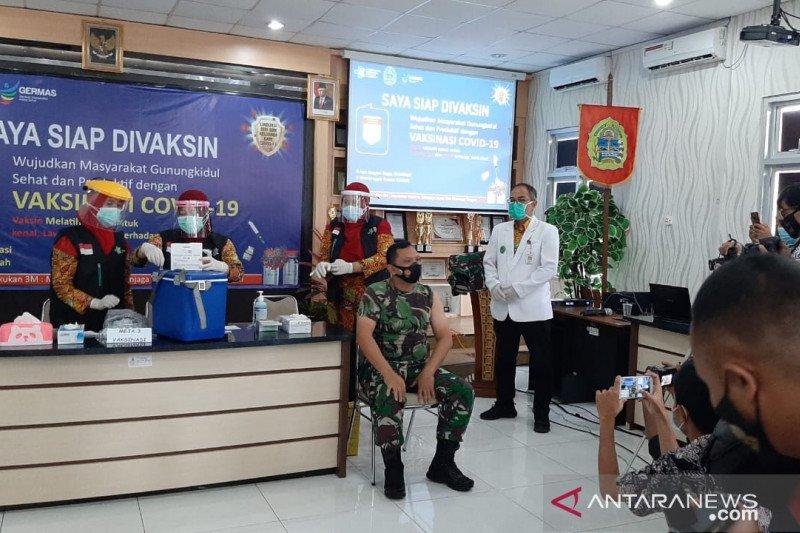 Dandim 0730 menjadi orang pertama terima vaksin di Gunung Kidul