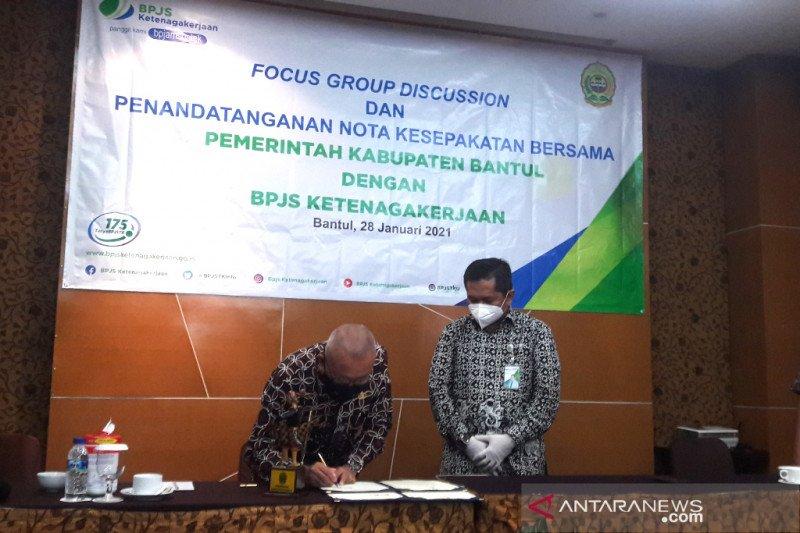 BPJS Ketenagakerjaan Yogyakarta menjalin kerja sama dengan Pemkab Bantul