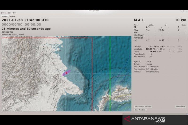 Gempa Pertama 2021 Di Kalimantan Guncang Berau Antara News