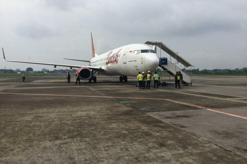 Dua pesawat  rute Semarang mendarat darurat di Bandara Adi Soemarmo Boyolali