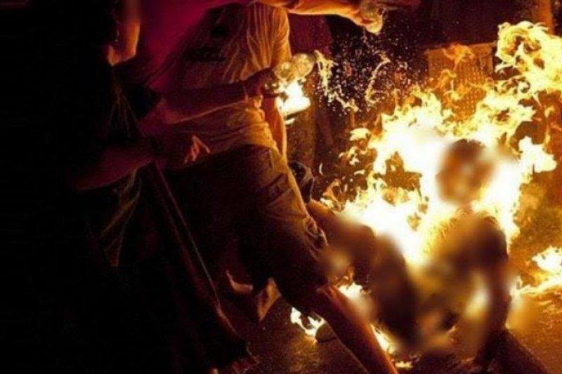 Polisi tangkap pria muda yang bakar istrinya di Deli Serdang