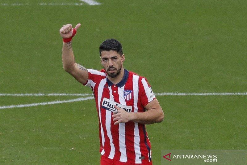 Suarez kuasai daftar top skor Liga Spanyol dengan mengoleksi 14 gol