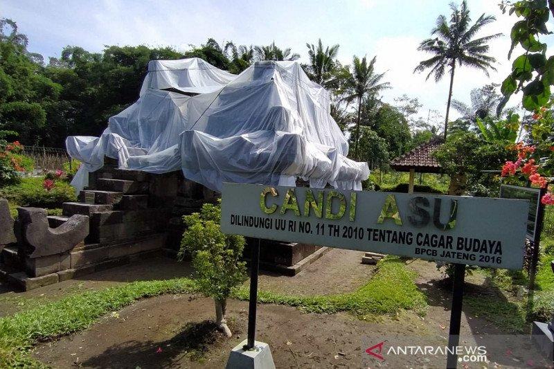 Antisipasi hujan abu Merapi, Candi Asu dan Candi Pendem ditutup plastik