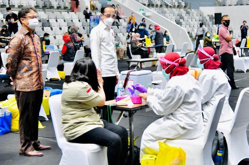 Presiden Joko Widodo ingin ada lanjutan vaksinasi massal