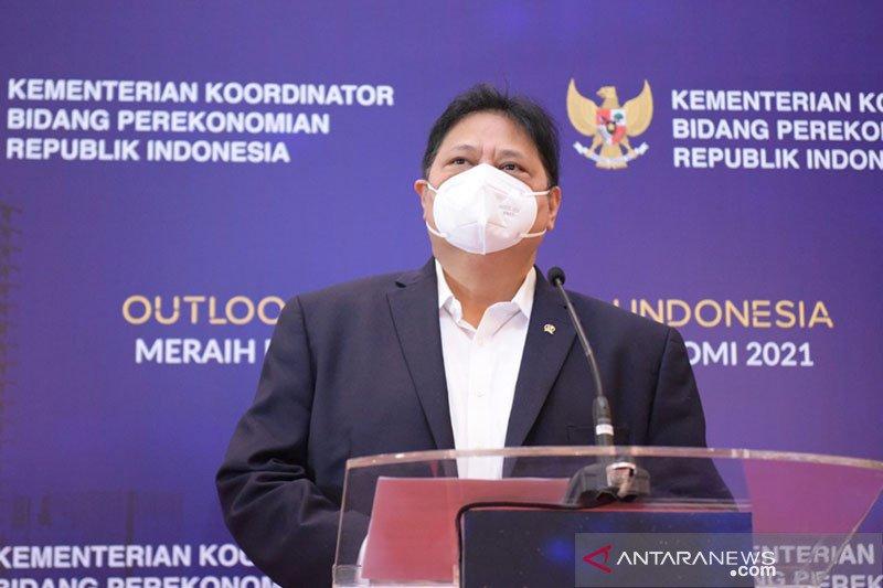 """Menko Airlangga proyeksikan pertumbuhan ekonomi 2021 """"rebound"""" kisaran 5,5 persen"""