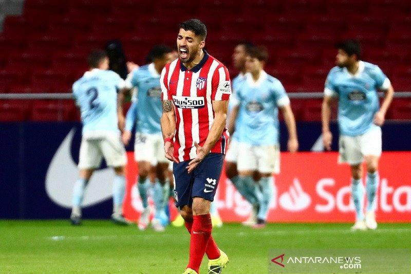 Celta Vigo hentikan rentetan kemenangan Atletico Madrid dengan hasil seri