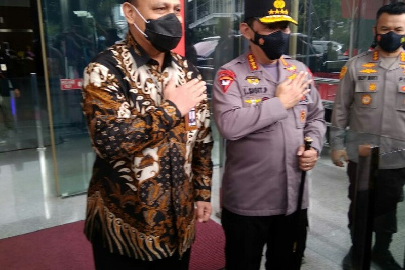 Kapolri bertemu Pimpinan KPK