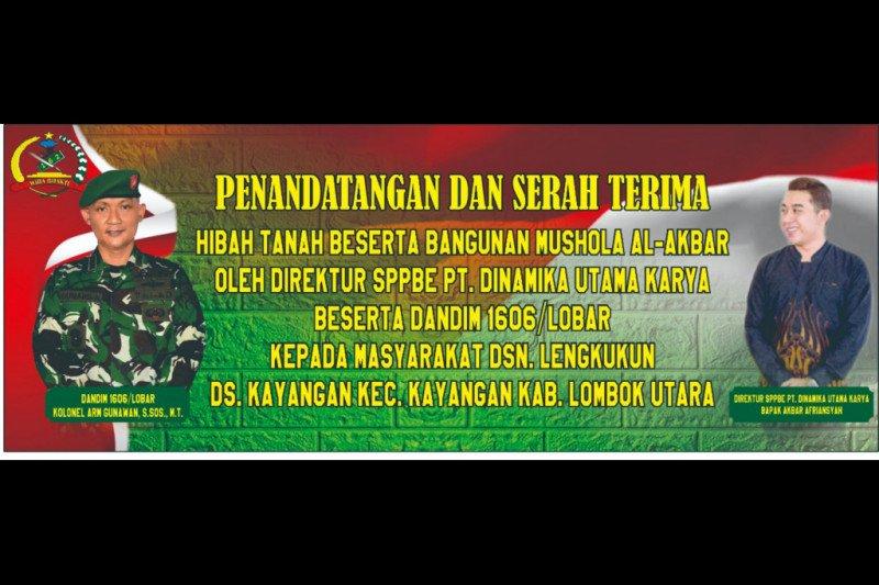 Dinamika Utama Karya bantu pembangunan musala di Lombok Utara