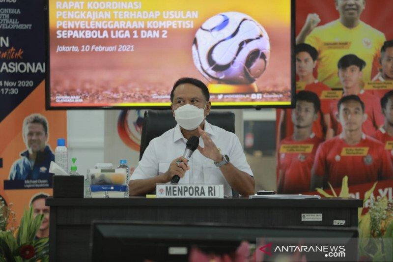 Menpora menggelar pertemuan dengan PSSI, LIB, klub hingga suporter