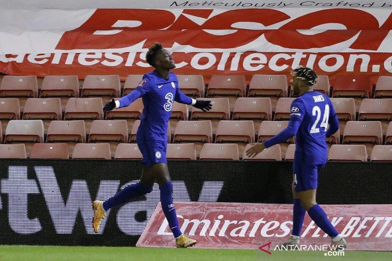 Piala FA - Gol tunggal Tammy Abraham antar Chelsea melaju ke perempat final