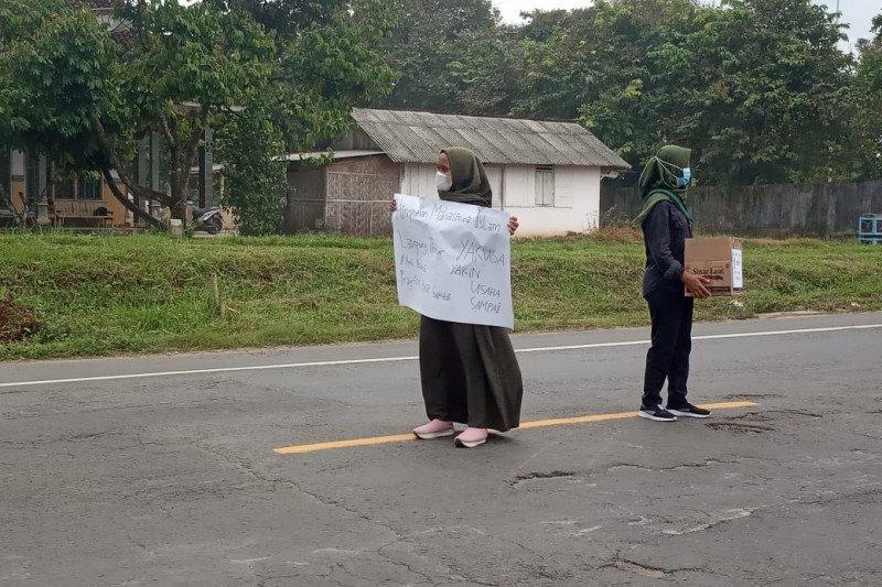 Kader HMI Lampung Timur galang dana untuk korban Puting Beliung Pasir Sakti