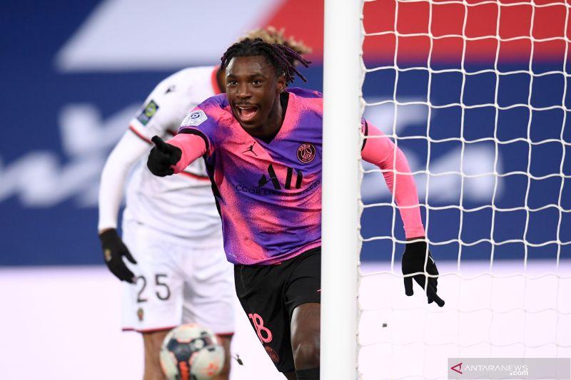 Bekuk Nice 2-1, PSG gusur Lille dari puncak klasemen Liga Prancis